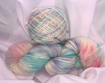 Unicorn Paradise, Sock Weight, Hand Painted, Multi Color, Hand Dyed Yarn, Superwash Merino, Yarn