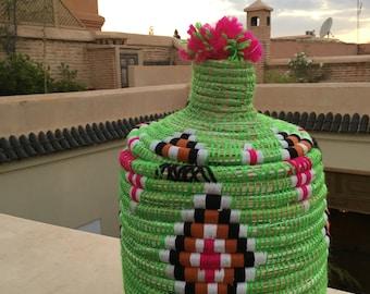 Vintage Berber Moroccan decorative basket