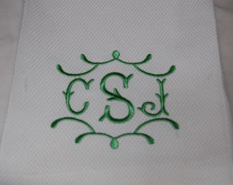 Monogrammed Hand Towel, Wedding Gift, Hostess Gift, Personalized Gift