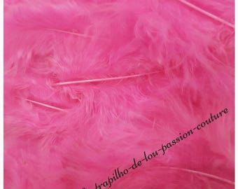 Bag approximately 20 pink marabou feathers