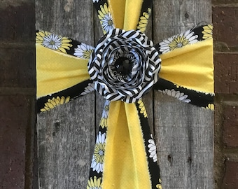 Black and Yellow Cross