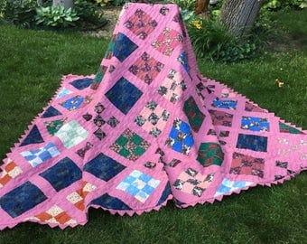 Beautiful Piecework Family Quilt
