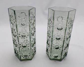 DartingtonFT95 Midnight Nipple Vases - A Pair