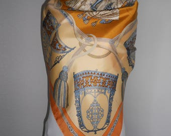 Hermes silk scarf Les Muserolles size 35 X 35