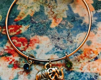 Elephant Birthstone Bracelet