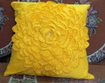 Yellow Petals Throw Cushion cover Unique Decorative Pillow Case
