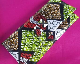 African Print Clutch Purse
