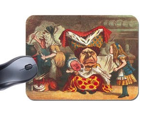 Alice In Wonderland With Duchess, Baby & Cheshire Cat Mouse Mat. High Quality Computer Mouse Pad