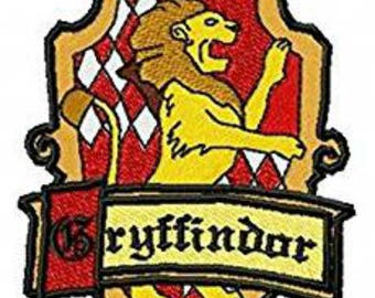 Harry Potter Hogwarts Gryffindor House Crest Sew On or Iron On 3.5 Inch Application Applique Patch- FREE DOMESTIC SHIPPING