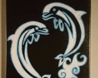 Acrylic dolphin painting