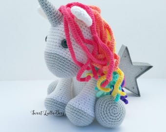 unicorn, unicorn doll, unicorn toy, unicorn plush, unicorn stuffed animal, crochet unicorn