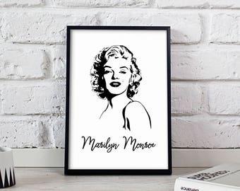 Marilyn Monroe Superstar poster, Marilyn Monroe wall art, Marilyn Monroe wall decor, Marilyn Monroe print, Gift poster, Superstar poster