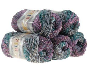 Show Punto Batik Alize Crochet yarn Yarn for knitting Hand knit yarn Antipilling acrylic yarn Multicolor knitting yarn Tweed yarn