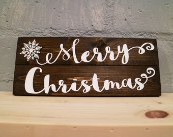 Merry Christmas - Wood Sign