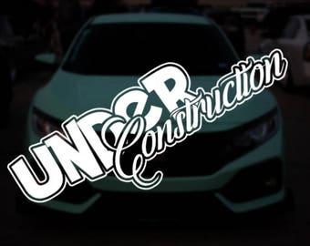 Under Construction Car Vinyl Sticker