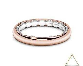 Minimal Wedding Ring Etsy