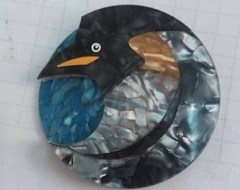 Resin Penguin brooch