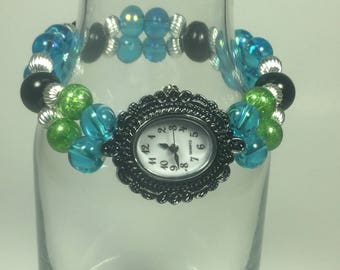 Blue & Green Vintage style Watch