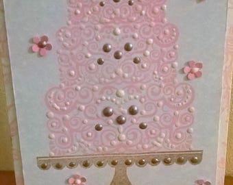 Celebrate Wedding Cake Card