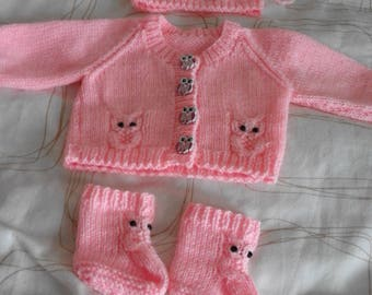 cute little owls set for 0/3 month baby girl