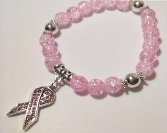 Cancer Awareness Beaded Bracelet