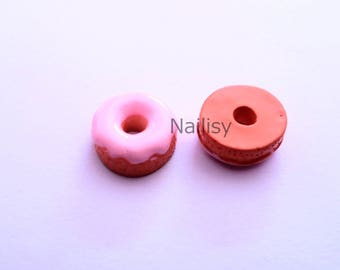 1 cabochon 14mm REF1987 Strawberry donuts