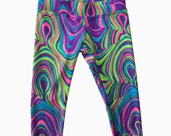 Girl's Capri - Girly Swirly Print