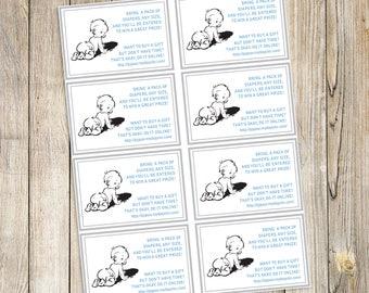 Vintage Baby Shower Insert Cards