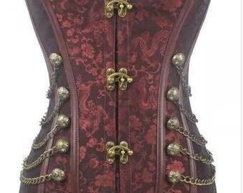 Steampunk Corset - Renaissance Corset - Pirate Corset - Pirate Costume - Cosplay Corset - Affordable Corset - Sexy Corset - Lingerie