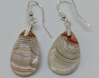 Crazy Lace Agate Earings