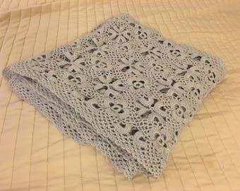Hand crochet scarf in flower pattern