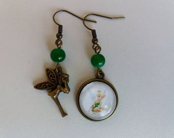 """Tinkerbell"" cabochon earrings"