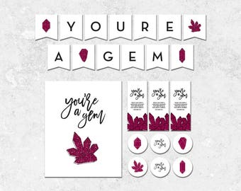 You're a Gem - Young Women in Excellence Instant Download Package - Easy Print