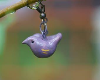 Fimo Clay Bird Earrings