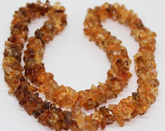 Natural YELLOW CITRINE 24 inch Smooth Uncut Chips Nuggets 4x3mm 5x3mm  AAA quality