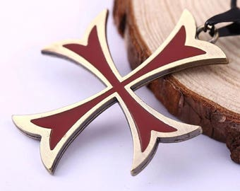 Assassin's creed Emblem of the Knights Templar Necklace