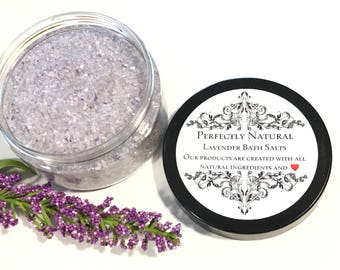 Perfectly Natural Lavender Bath Salts