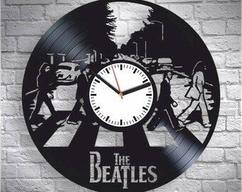 The Beatles, Vinyl Record Wall Clock, John Lennon, Paul McCartne, Wall Clock Modern, Wall Art, New Year Xmas Gift, Gift For Rock Lover