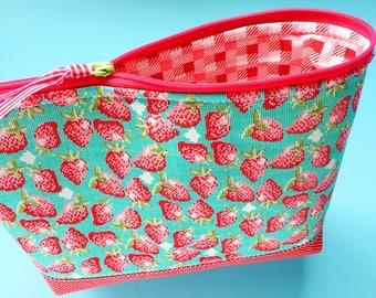 Strawberry Zipper Pouch
