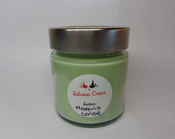 Plant Bush Corsica soy wax scented candle.