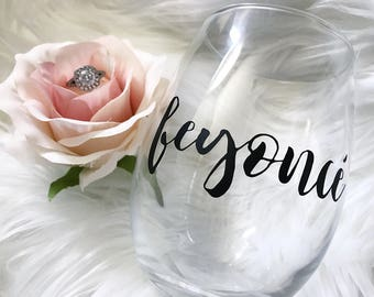 Feyonce Wine Glass/Bride Wine Glass/Bridal Shower Gift/Bride to be Wine Glass/Bridal Glasses