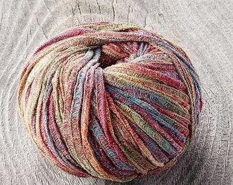 Sugarbush Glaze Yarn - Cotton/Acrylic/Polyester/Metallic Blend Specialty Yarn - 50g 75 Yards