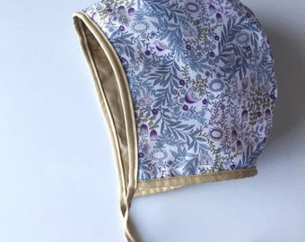 WOODLAND Reversible Bonnet with Mustard Lining