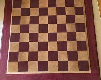 Hand made Chess Board with Base