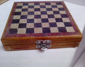 "Vintage Sand Stone Chess Set ""Jamaica"""