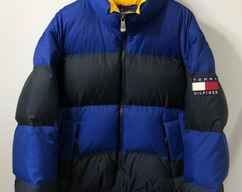 Vintage Tommy Hilfiger down jacket colorblock medium