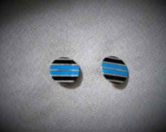 Sterling Silver American Indian mad post earrings.
