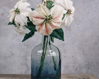 Faux Poinsettia White