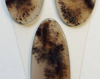 Natural Moss Agate cabochon