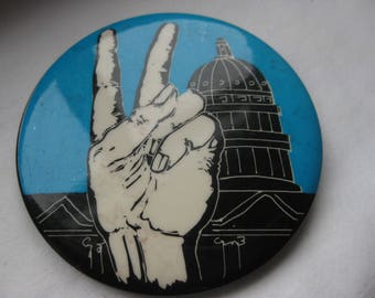 69 protest /Peace March In Washington  pinback